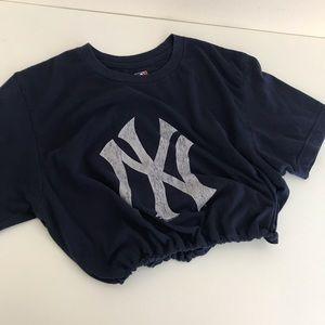 New York Yankees drawstring crop tee